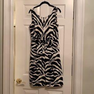 Kate Spade size 8 zebra print dress